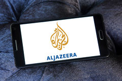 Aljazeera news channel logo Royalty Free Stock Images