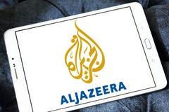 Aljazeera news channel logo. Logo of aljazeera news channel on samsung tablet stock images