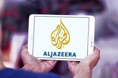 Aljazeera news channel logo. Logo of aljazeera news channel on samsung tablet stock image