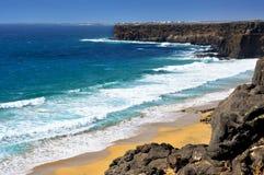 Aljibe de la Cueva Beach à Fuerteventura, Espagne Photos libres de droits