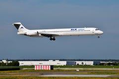 ALK-Fluglinien McDonnell Douglas MD-82 Stockbild