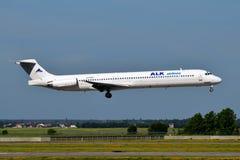 ALK-Fluglinien McDonnell Douglas MD-82 Stockfotos