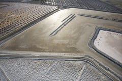 Alkali flat aerial. Stock Photos