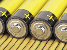 alkaline batteri royaltyfria foton