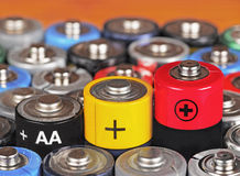 alkaline batteri Royaltyfria Bilder