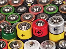 alkaline batteri Arkivbilder