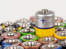alkaline batteri royaltyfri foto