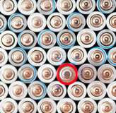 Alkaline batteries AAA Royalty Free Stock Photo