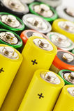 Alkaline batteries. Chemical waste Stock Images