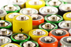 Alkaline batteries. Chemical waste Royalty Free Stock Photos