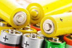 Alkaline batteries. Chemical waste Royalty Free Stock Photography