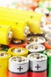 Alkaline batteries. Chemical waste Stock Image