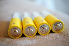 Alkaline batteries Stock Image