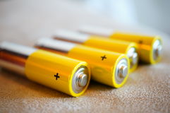Alkaline batteries Stock Photo