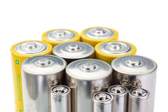 Alkaline batteries symbol of clean energy . Royalty Free Stock Photo
