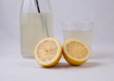 Alkaline lemonade. Is a drink used to rehydrate more effectively so that water alone. Its used in case of dehydration or diarrhea Royalty Free Stock Image