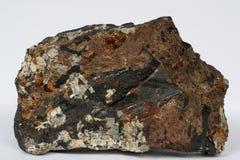 Alkaline pegmatite vein mineral isolated Stock Photo