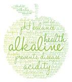 Alkaline Word Cloud Royalty Free Stock Photos