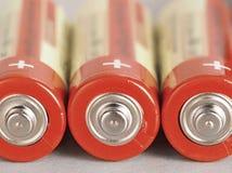 Alkalische Batterie Stockbild