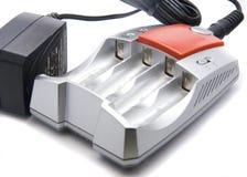 Alkalische batterijlader Royalty-vrije Stock Foto's