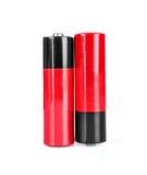 Alkalische Kadmiumchemikalie drei der Batterie AA Lizenzfreie Stockfotos