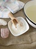 Alkaliskt salt för bad Royaltyfri Fotografi