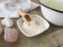 Alkaliskt salt för bad Arkivfoton