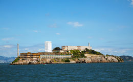 Alkatraz island in San Francisco bay, California Stock Images