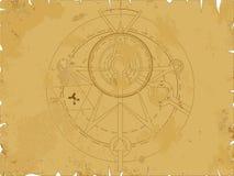 alkemipentagram royaltyfri illustrationer