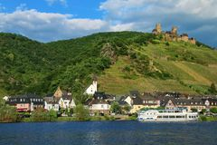 Alken town on Moselle River in Rhineland-Palatinate, Germany. Royalty Free Stock Images