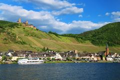Alken town on Moselle River in Rhineland-Palatinate, Germany. Royalty Free Stock Photo
