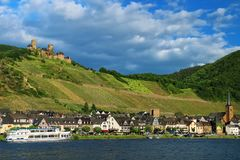 Alken town on Moselle River in Rhineland-Palatinate, Germany. Stock Photos