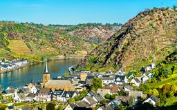 Alken town on the Moselle River in Rhineland-Palatinate, Germany. Alken town on the Moselle River in the Rhineland-Palatinate state of Germany stock photo