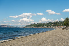 Alki Beach In West Seattle Royalty Free Stock Images