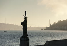 Alki Statue de Liberty Plaza Photographie stock