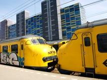 Alkmaar-ailway Station stockbilder