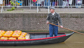 Alkmaar on a Cheese Market Day Stock Images