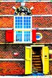 ALKMAAR, DIE NIEDERLANDE - 25. AUGUST 2013: Architekturdetail stock abbildung