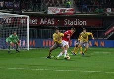 ALKMAAR holandie, GRUDNIA 15 2018 gracz futbolu Guus Do AZ fotografia stock