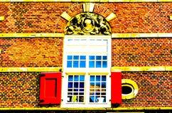 ALKMAAR holandie - KWIECIEŃ 22, 2016: Architektura szczegółu ilustracja Obraz Stock