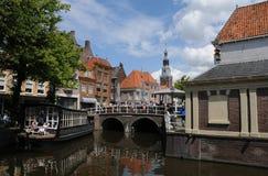 alkmaar kanal Royaltyfri Fotografi
