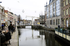 Alkmaar Main Canal, Netherlands Stock Images