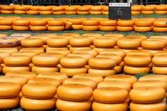 ALKMAAR NEDERLÄNDERNA - MAJ 27, 2016: Berömd ostmarknad i Alkmaar, Nederländerna Fotografering för Bildbyråer