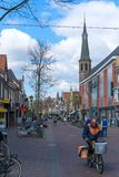 Alkmaar, the Netherlands - April 12, 2019: View from the streets of Alkmaar.  royalty free stock photos