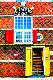 ALKMAAR, THE NETHERLANDS - AUGUST 25, 2013: Architectural detail Royalty Free Stock Photography