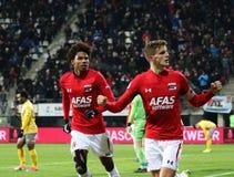 ALKMAAR, OS PAÍSES BAIXOS, O 15 DE DEZEMBRO DE 2018 jogador de futebol Guus Til de AZ imagem de stock royalty free
