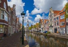 Alkmaar pejzaż miejski - holandie Obrazy Royalty Free