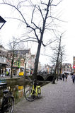 Alkmaar Street, Netherlands - Winter Day - Dutch City Royalty Free Stock Photos