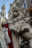 Alkmaar urzędu miasta architektoniczny szczegół fotografia stock