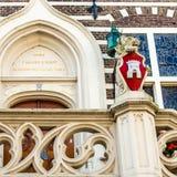 Alkmaar urzędu miasta architektoniczny szczegół zdjęcie royalty free